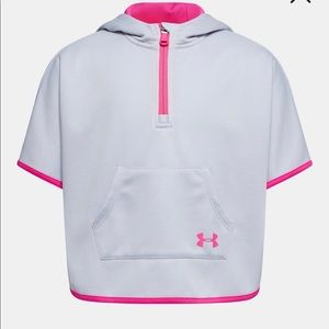 NWT Under Armour Moonstone Blue Hooded Cape Size 5